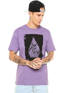 Camiseta Volcom Disruption Roxa
