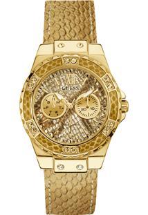 7226bdda753 Relógio Digital Couro Ouro Branco feminino