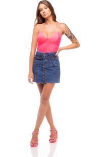 Body Neon Serinah Pink - Rosa - Feminino - Dafiti