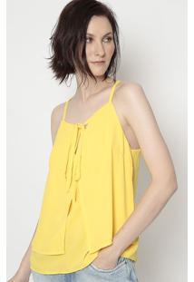 Blusa Com Sobreposição - Amarela- Moiselemoisele