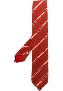 Lardini Gravata Listrada Texturizada - Vermelho