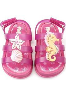 Sandália Plugt Mini Bizz Fundo Do Mar Feminina - Feminino-Pink