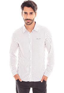 Camisa Convicto Regular Com Bordado Off White