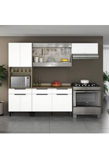 Cozinha Compacta Itamaxi 9 Pt 3 Gv Branca E Castanho