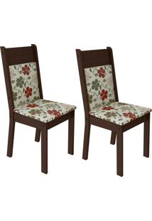 Kit 2 Cadeiras 4280X Marrom - Madesa