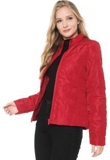 Jaqueta Puffer Lunender Color Vermelha