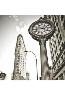 Placa Decorativa Manhattan 25X25 Cm Preto