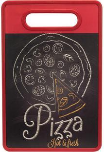 Tábua De Corte Pizza 20X30Cm Vermelha