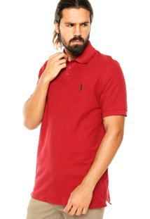 Camisa Polo Aleatory Bordado Bordô