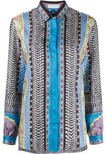 Etro Long Sleeve Printed Blouse - Azul