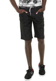 Bermuda Jeans Element Reta Desoto Walk Preta