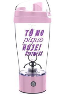"Coqueteleira Mixer ""Fitness""- Incolor & Rosa Claro- Ludi"