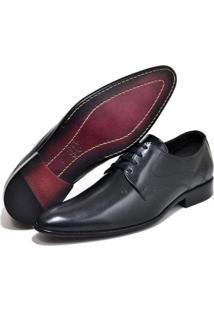 Sapato Social Couro Top Franca Shoes Masculino - Masculino-Preto