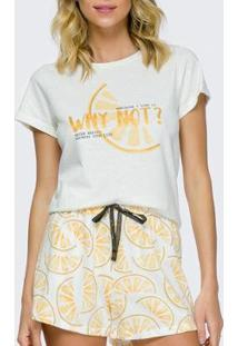 Pijama Feminino Cor Com Amor - Feminino-Off White
