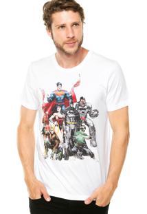 Camiseta Fashion Comics Justice League Branca