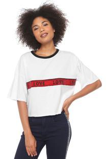 Camiseta My Favorite Thing(S) Paetê Branca
