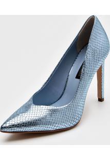 Scarpin Jorge Bischoff Metalizado Azul