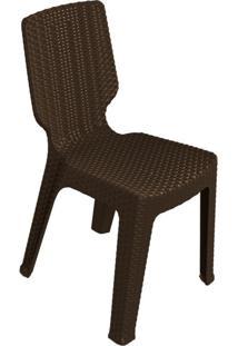 Cadeira Para Área Externa Rattan Ii Marrom