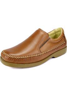 Sapato Social Cla Cle Anti Stress Elástico Bege