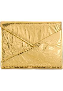 Mm6 Maison Margiela Porta-Moedas Assimétrico - Dourado