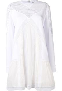 Diesel Black Gold Broderie Patchwork Dress - Branco