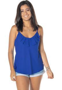Blusa Com Detalhe Sobreposto - Azuldwz