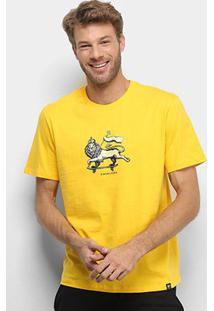 Camiseta Cavalera T Shirt Leão De Judah Masculina - Masculino-Amarelo