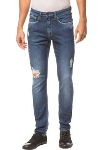 Calça Jeans Five Pockets Skinny - Marinho - 38