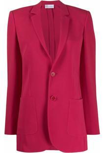 Red Valentino Blazer Com Abotoamento - Vermelho