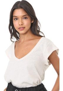 Camiseta Colcci Camiseta Da Linha Eco Soul Bege