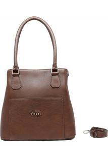 Bolsa Em Couro Recuo Fashion Bag Castor