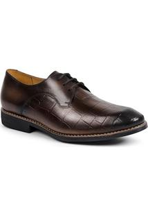Sapato Masculino Linha Premium Derby Sandro Moscoloni 16177 Marrom Escuro