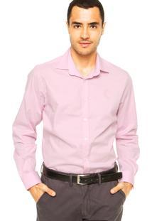 Camisa Forum Bordado Rosa