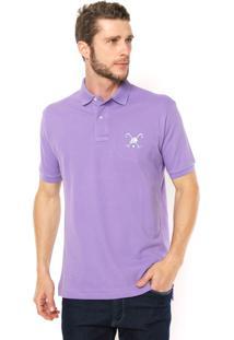 Camisa Polo Polo Play Reta Logo Roxa