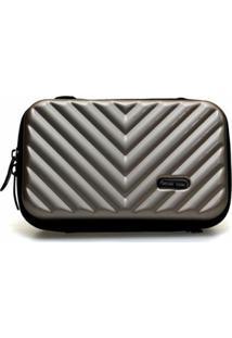 Mini Bag Bolsa Tictactoo Transversal Pochete Feminina - Feminino-Dourado