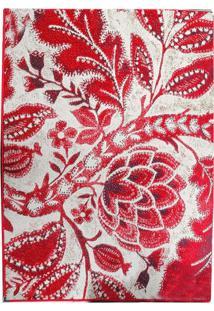 Tapete Andino Natureza Ii Retangular Polipropileno (65X40) Vermelho
