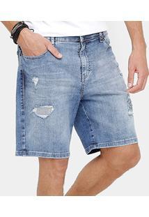 Bermuda Jeans Ellus Slim Stone Masculina - Masculino