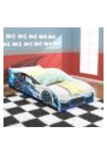 Cama Solteiro Carro Drift - Azul / Branco - Rpm Móveis