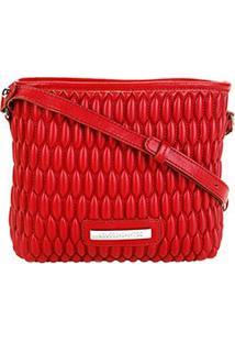 Bolsa Loucos & Santos Mini Bag Matelassê Transversal Feminina - Feminino-Vermelho