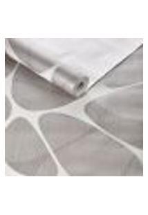 Papel De Parede Importado Tnt Geometrico Cinza E Off White