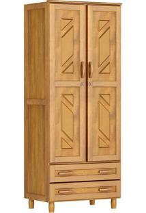 Guarda-Roupa Multiuso Mel Com 2 Portas 2 Gavetas E 3 Prateleiras Madeira Maciça De Pinus Cavazotto