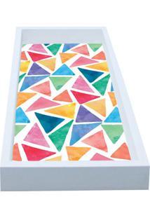 Bandeja Para Lavabo Mosaico- Branca & Rosa- 3X30X15Ckapos