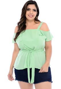 Blusa Art Final Plus Size Verde Taty-54