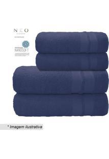 Toalha De Banho Gigante Neo Allure- Azul Escuro- 80Xcamesa