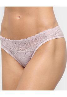 Calcinha Tanga Liz Feminino Reta-50903 - Feminino-Nude