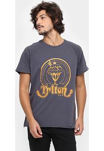 Camiseta Triton Corte Fio Vintage Logo - Masculino