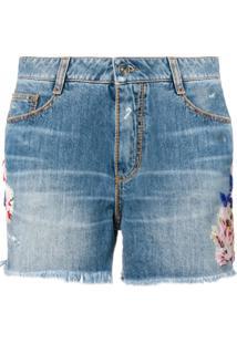 Ermanno Scervino Short Jeans - Azul
