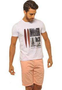 Camiseta Joss Premium New Board Vintage Masculina - Masculino-Branco