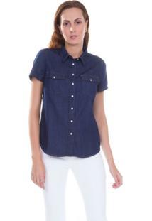 Camisa Levis Larissa Western - Feminino-Azul Escuro