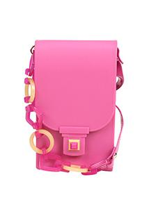 Bolsa Petite Jolie Mini Bag Phone Case Plus Feminina - Feminino-Pink